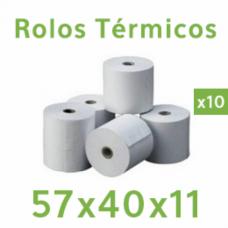 Rolo de papel térmico 57x40x11