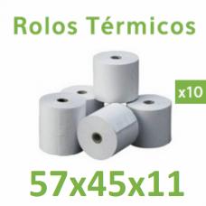 Rolo de papel térmico 57x45x11