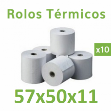 Rolo de papel térmico 57x50x11