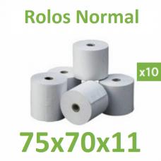 Rolo de papel normal 75x70x11